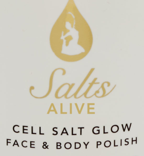 Cell Salt Glow Scrub 13.5 oz 400ml Label