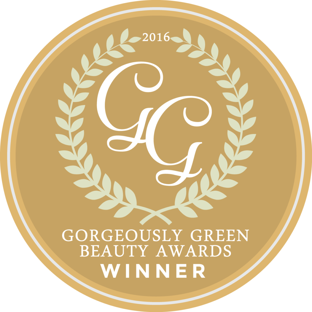 Gorgeously Green Award Logo for Gavee Gold Liquid Gold Peptides